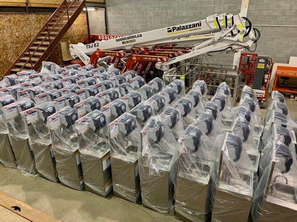 75 stations de lavage MrSink prêts pour l'expédition